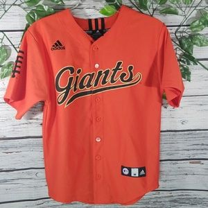 MLB Giants Adidas button up jersey fits sz Small